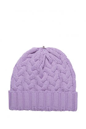 Charlie Cable Hat Velvet Violet
