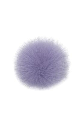 Fox Fur Pom Velvet Violet