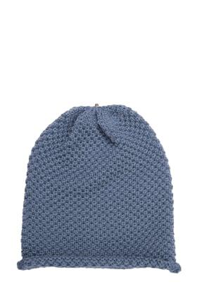 Waffle Hat Nude Blue