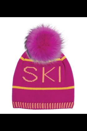 Passion Pink Raccoon Pom Hat