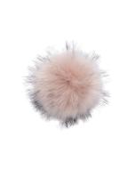 Faux Fur Raccoon Pom Pink Dust
