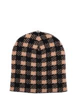 Lindo F Mary Ann Black and Oatmeal Merino Wool Toque Hat Beanie