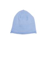 Glossy Hat Newborn Silver Blue