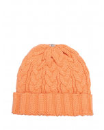 Charlie Cable Hat Peach