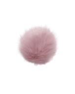 Faux Fox Fur Pom Rose