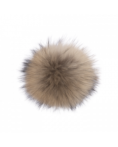 Lindo F Raccoon Saga Fur Natural Pom Pom