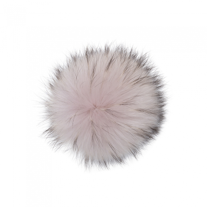 Large Pink Dust Raccoon Pom Pom